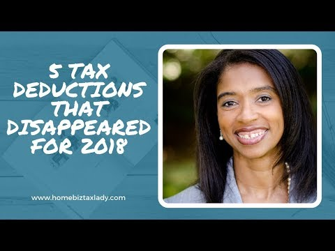 5 Tax Deductions That Disappeared For 2018