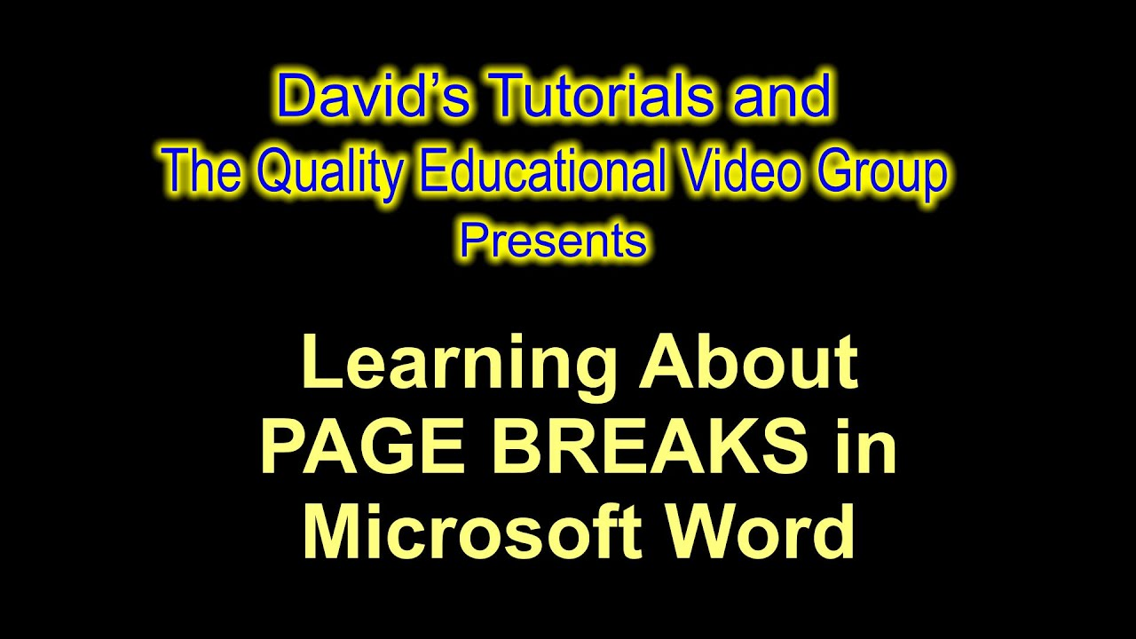 Insert Or Delete Page Breaks In Ms Word How To