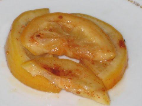Квашеные лимоны с паприкой