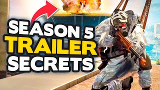 WARZONE SEASON 5 TRAILER: 17 SECRETS! NEW WEAPONS, LOCATIONS & MORE (Modern Warfare)