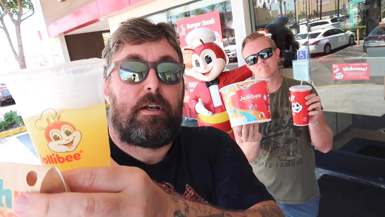 Jollibee Food Review of Jolly Spaghetti & Chickenjoy - Peach Mango Pie / Pineapple Quencher & More