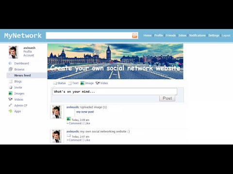 How to make your own Social Network Website with Jcow | create a website like facebook