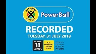 PowerBall Results - 31 July
