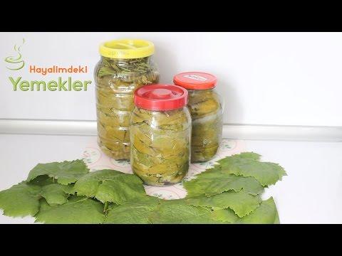 Yaprak Salamura Nasıl Yapılır- Üzüm yaprağı Salamurası tarifi /Hayalimdeki Yemekler