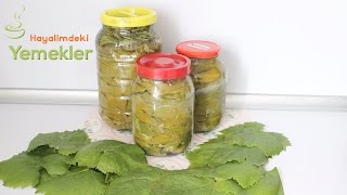 Yaprak Salamura en iyi şekilde nasıl yapılır- Üzüm yaprağı Salamurası tarifi /Hayalimdeki Yemekler