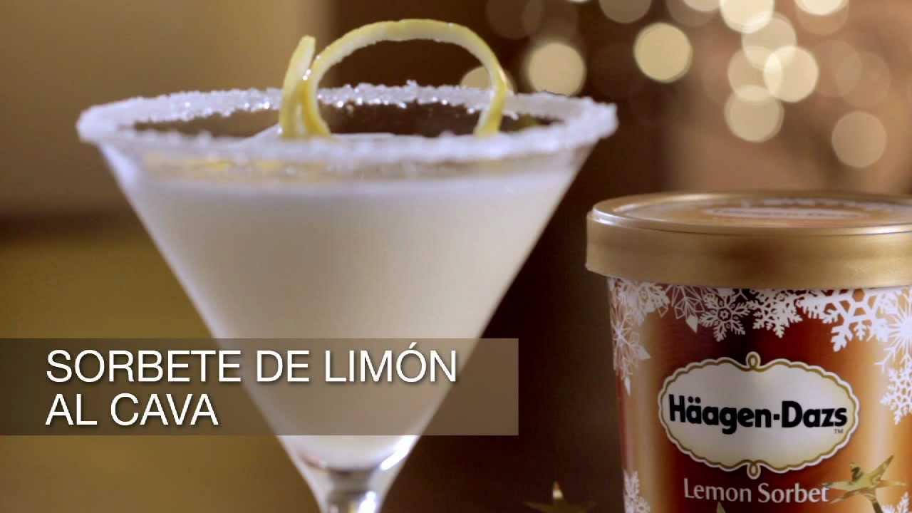 Sorbete de cava al lemon sorbet h agen dazs youtube - Sorbete limon al cava ...