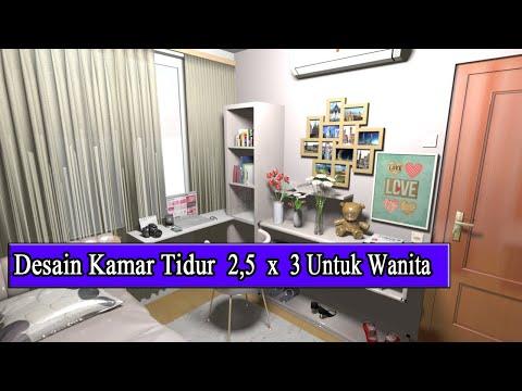 Desain Kamar Tidur Cewe 3 X 2 5 Meter Anti Sempit Youtube