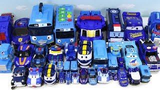 꼬마버스타요 로보카 폴리 로봇트레인 에반킹 에반 헬로카봇 트렌스포머 파란자동차 다모여라