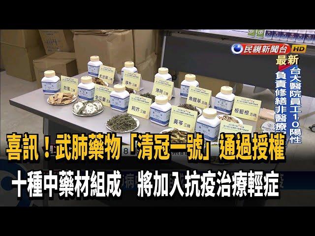 """喜訊!武肺藥物""""清冠一號""""通過授權 將加入抗疫-民視台語新聞"""