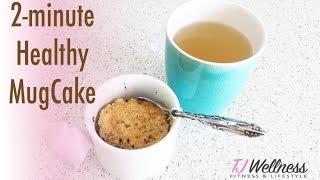 Mug Cake in 2 minutes, gluten free, GF, refined sugar free, paleo