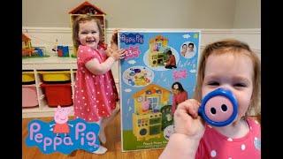 Zuza Unboxing Peppa Pig House Kitchen  Kids Pretend Play