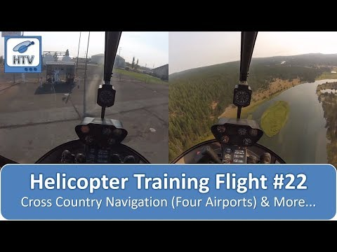 Helicopter Training Flight # 22 - Cross country navigataion to 4 different airports