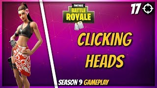 CLICKING HEADS (Fortnite Doublecross Skin High Kill Gameplay)