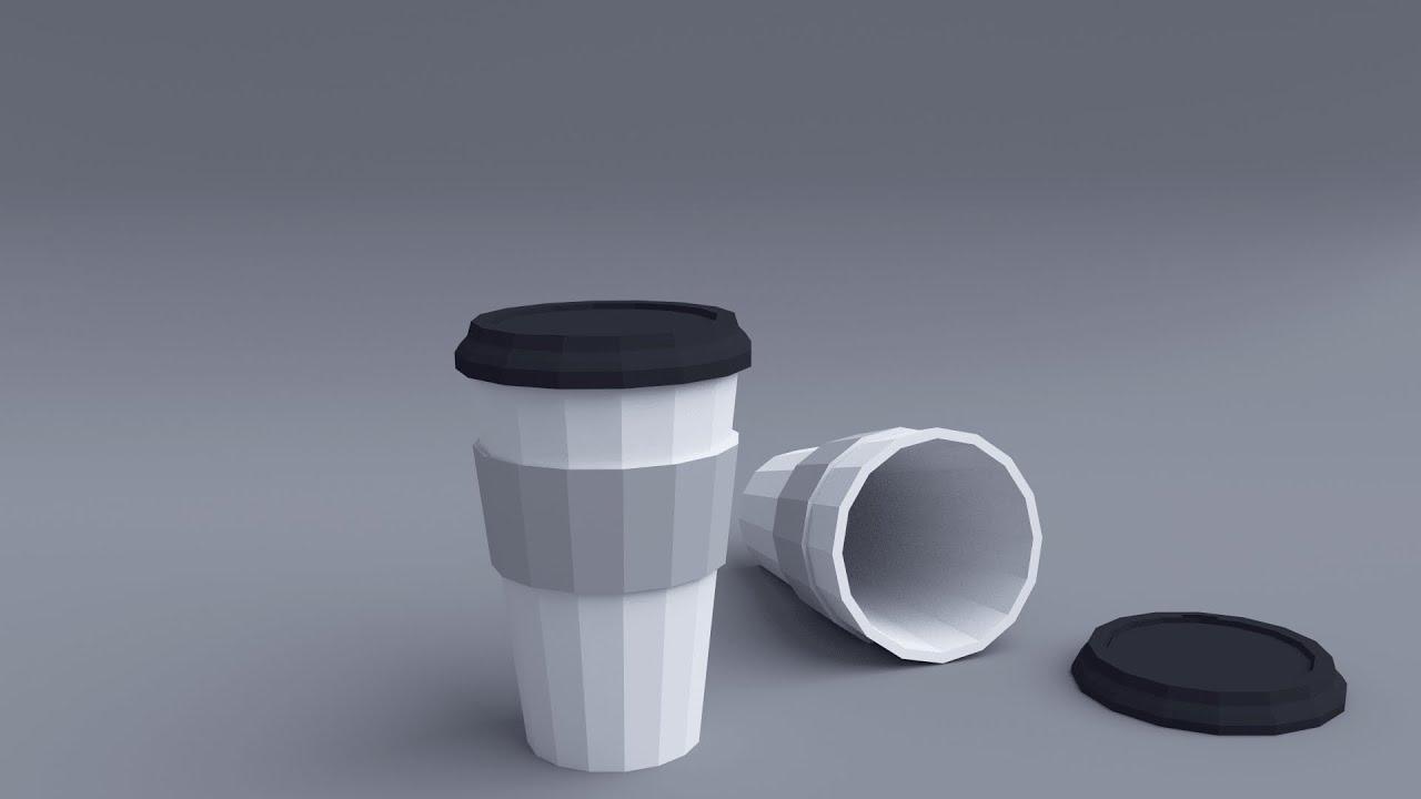 Blender Tutorial Low Poly Coffee Cup