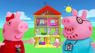 Peppa Pig Game | Crocodile Hiding in Peppa Pig Toys Pretending To Be Peppa Pig Daddy | Family Home