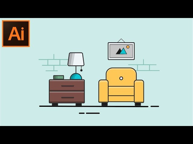 Adobe illustrator CC tutorial - How to Make a Flat  Background Design For Beginners