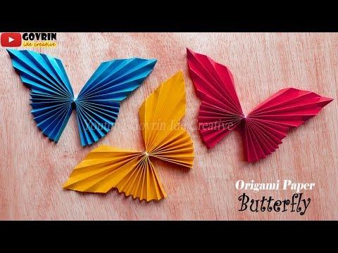 Cute & Easy Butterfly DIY - Cara Mudah Membuat Kupu-Kupu Origami - Hiasan Dinding Kupu kupu