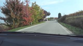 Verso la zona di Alba in macchina