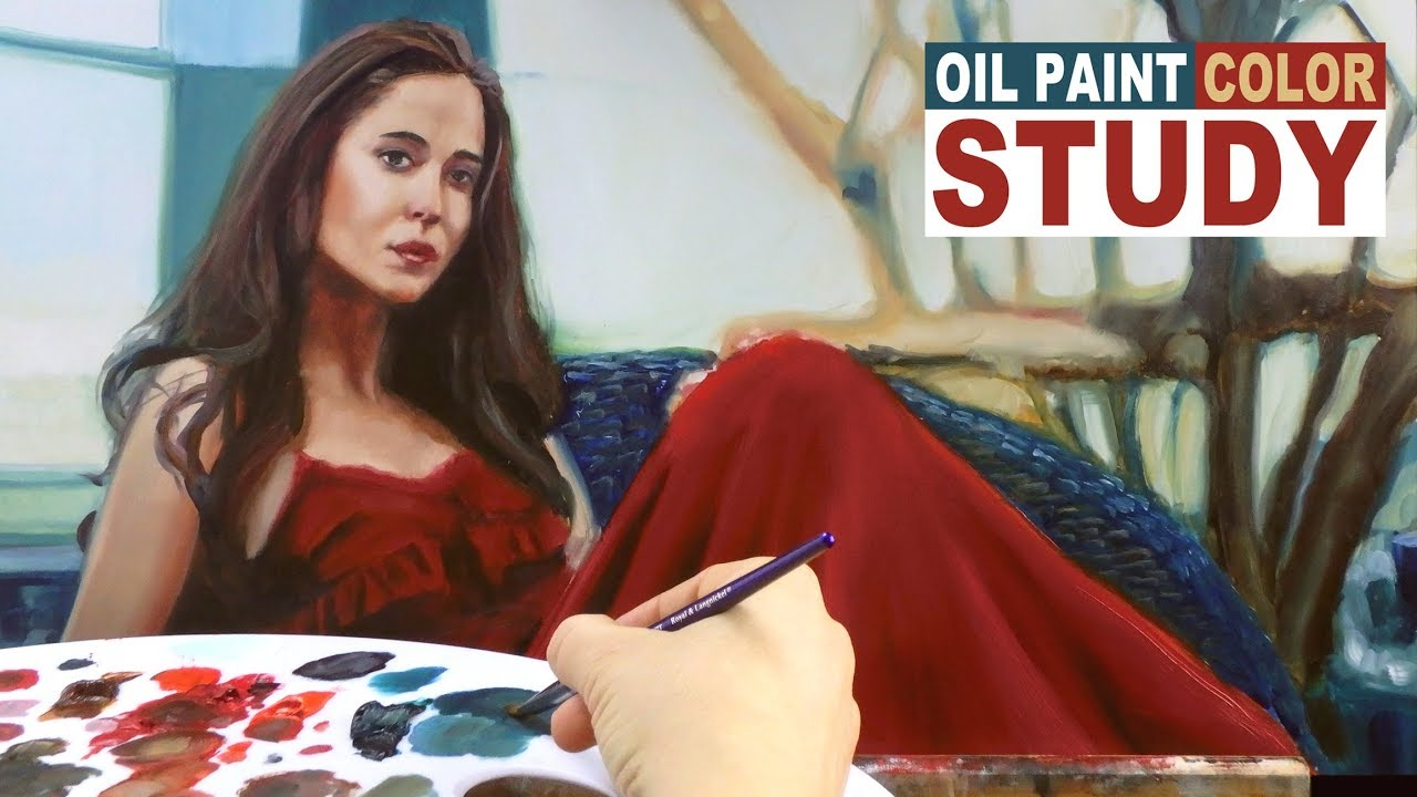 STEP #2 TO REALISTIC PORTRAIT PAINTING: Alla Prima Oil Paint Color Sketch Study