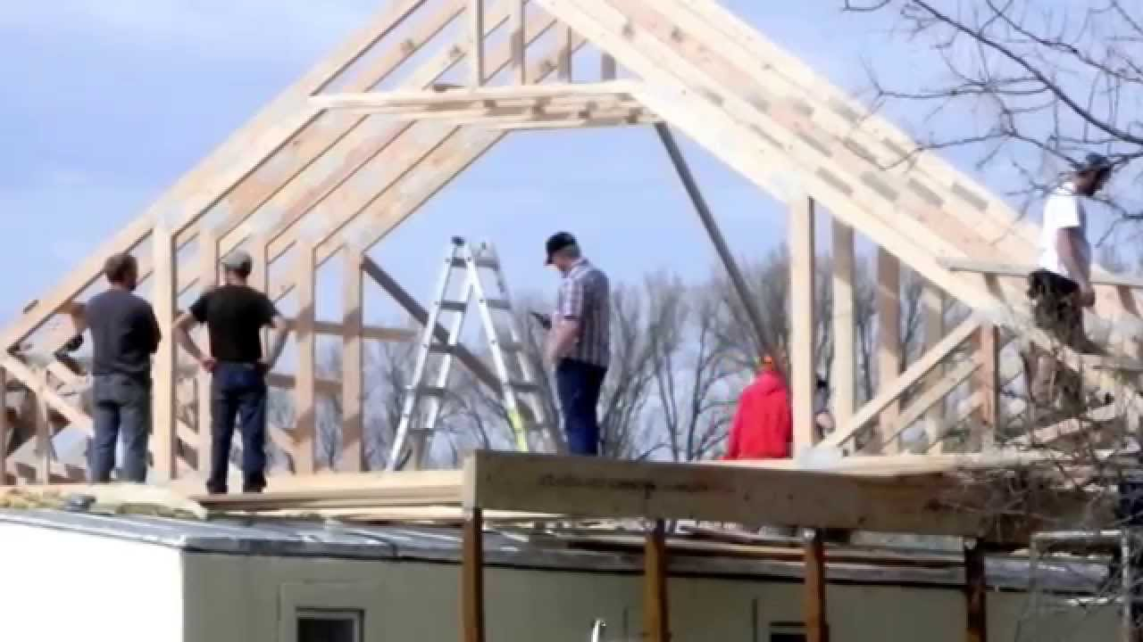 03 14 2015 building second story onto single wide trailer for Building onto a house