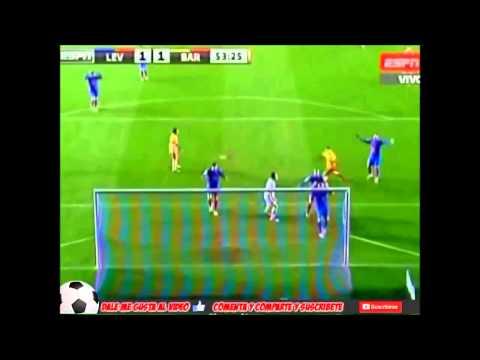 Levante 1   4 Barcelona Goals