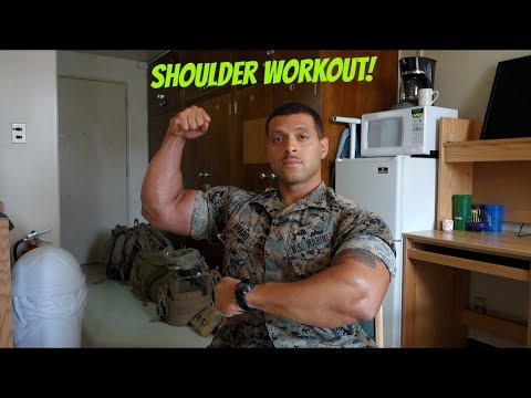 VLOG Okinawa Japan Deployment Updates | RAW Shoulder workout
