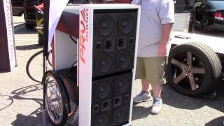tricycle with loud prv audio speakers and bass