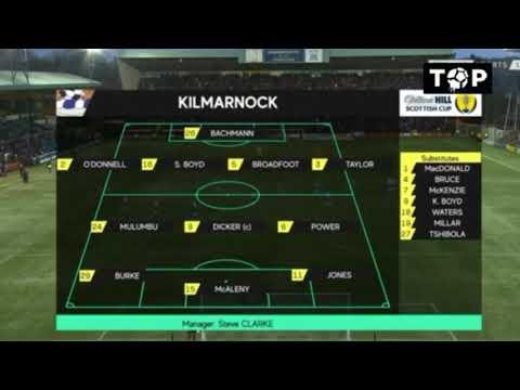 Kilmarnock vs Rangers 0-0 Scottish Cup Round Of 16