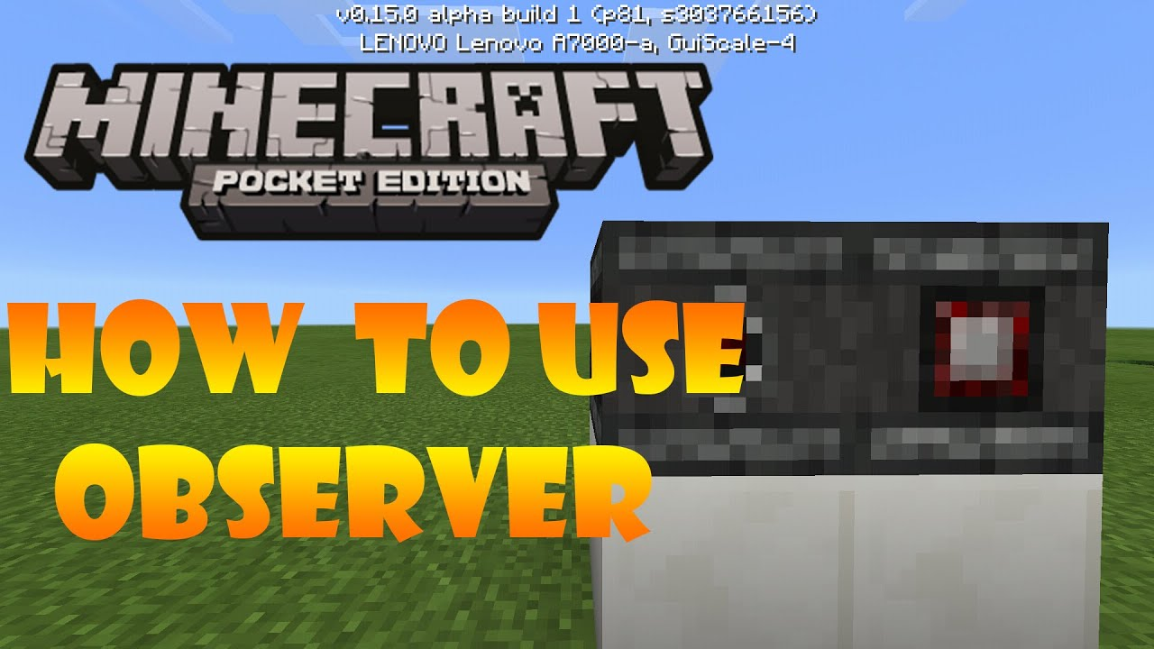 """Minecraft PE """"OBSERVER'' 