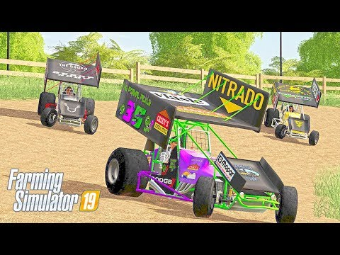 SPRINT CAR RACING ON DIRT TRACK - COUNTY LINE SEASONS FS19 (ROLEPLAY)
