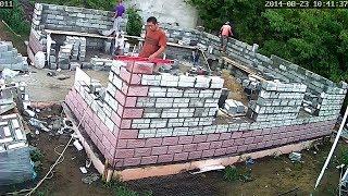 видео Кладка стен из пеноблоков – строим теплый и прочный дом