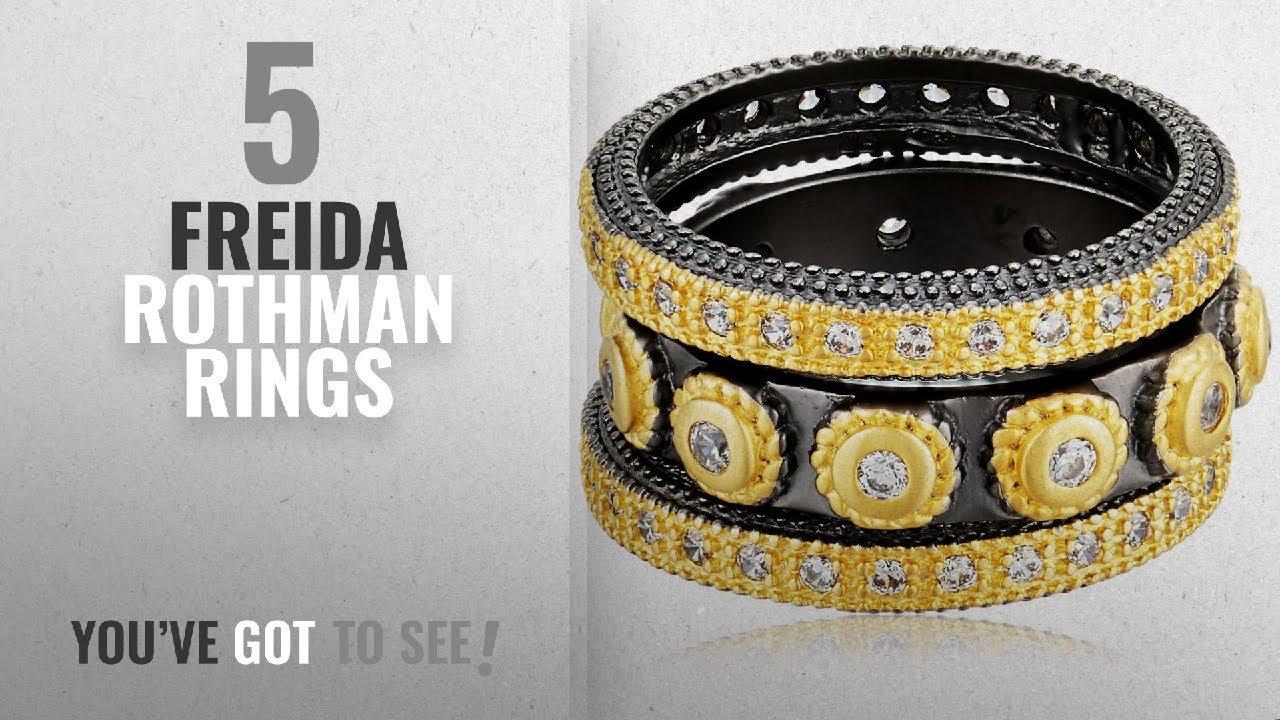 092212882e291 10 Best Freida Rothman Design Rings: Freida Rothman Womens Signature  Studded Triple Stackable Ring,