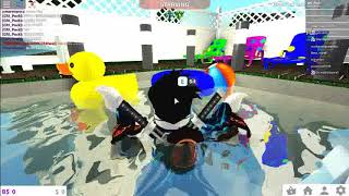 roblox pool party with the gang!