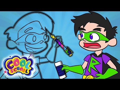 Super Drew Goes Invisible and Fights Ray Blank! | A Stupendous Drew Pendous Superhero Story