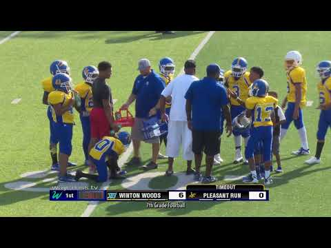 Winton Woods Middle School Vs. Pleasant Run Middle School 7th Grade Football - September 11, 2019