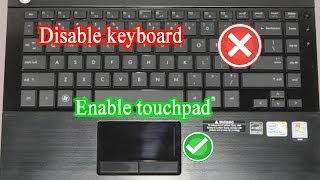 How to disable keyboard when using touchpad (only keyboard Disable)