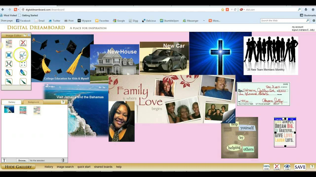 how to create a digital dream board or vision board - youtube, Powerpoint templates