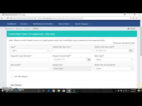 GSTR 1 credit & debit notes-table 9 B  how to do live filing in english by CA BhavishyaSri