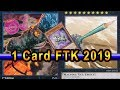 1 Card FTK 2019 WORKING First Turn Win! With Yugioh Deck Profile