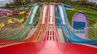 Wet 'n' Wild Sydney - The Breakers | Quadruple Master Blaster Slides!