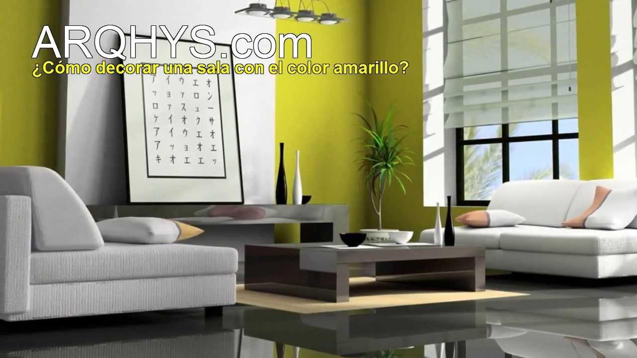 Cmo decorar tu sala con el color amarillo Interiores y