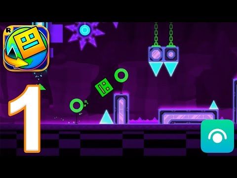 Geometry Dash World - Gameplay Walkthrough Part 1 - Levels 1-10 (iOS, Android)