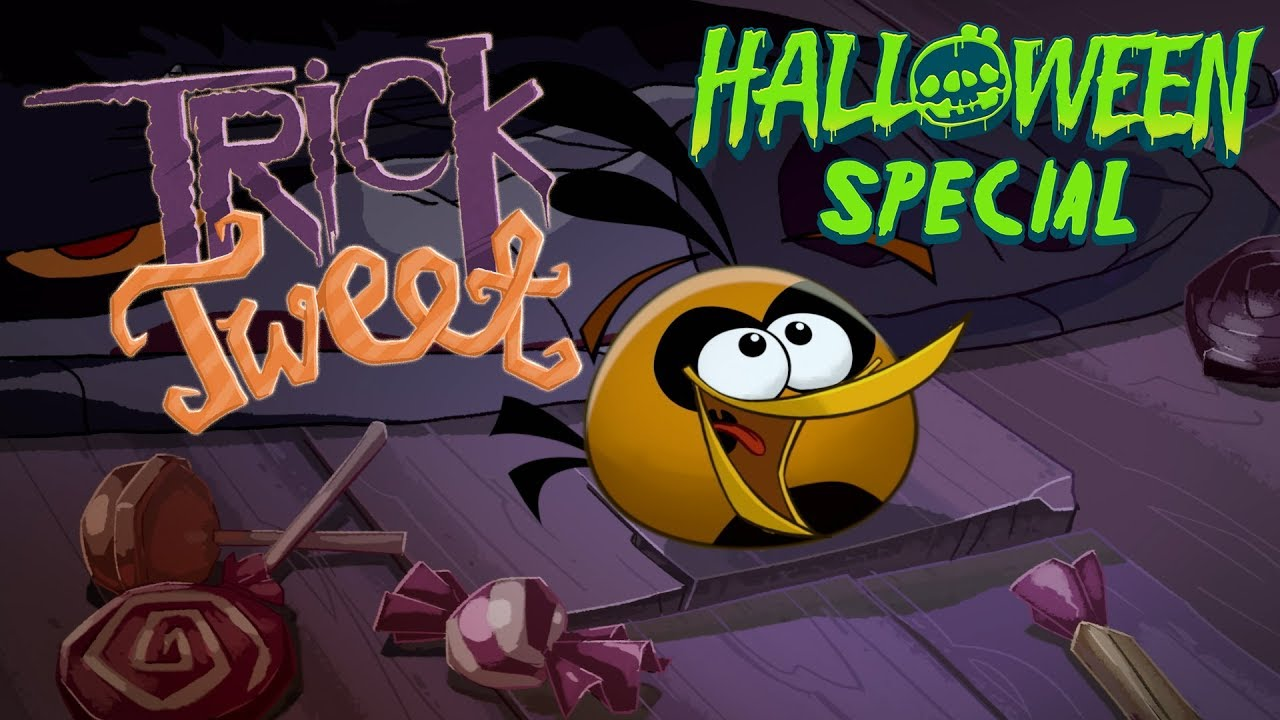 angry birds trick or tweet wishing you a happy halloween halloween