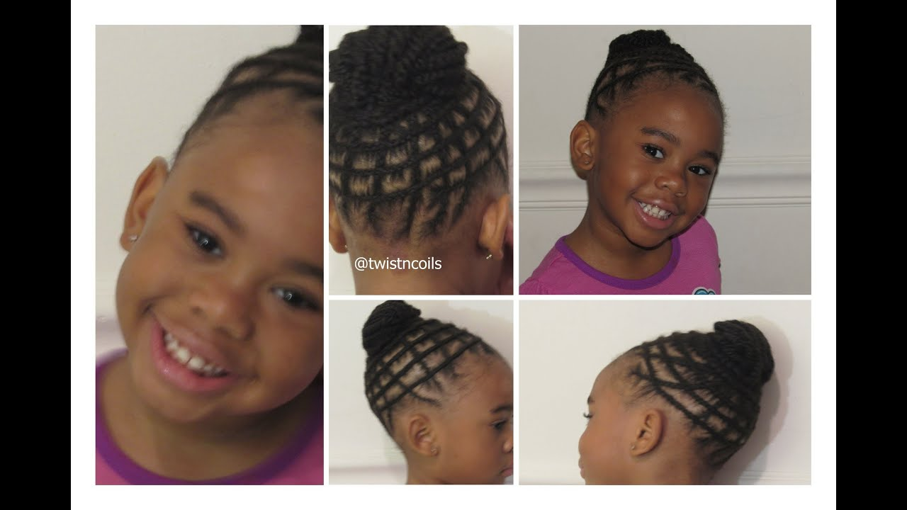 TnC - 19 ♡ Natural Braid Hairstyle for Kids - YouTube