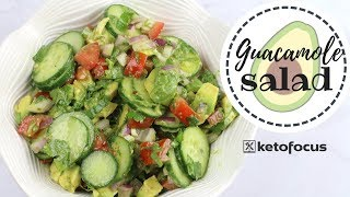 If you ever eat guacamole by the spoonfuls, then this recipe is for you! cucumber avocado salad a delicious keto to enjoy as bbq side dish or just...