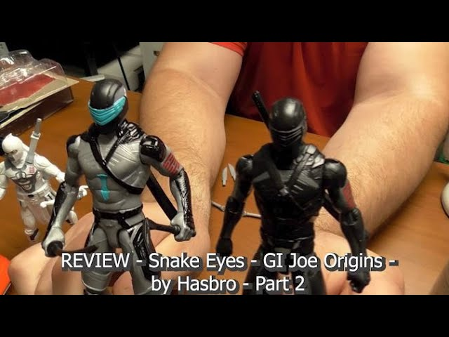 REVIEW - Snake Eyes GI JOE Origins - Action Figure - by Hasbro - Part 2