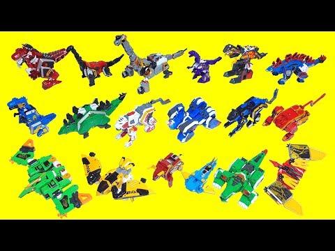 지오메카 장난감 전제품 총출동 비스트가디언 캡틴다이노 5단합체  솔리드모드에서 비스트 다이노 모드로 변신 Geo Meha Toys