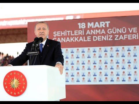 Cumhurbaşkanı Recep Tayyip Erdoğan'ın Çanakkale Deniz Zaferi'nin 103. Yılı konuşması