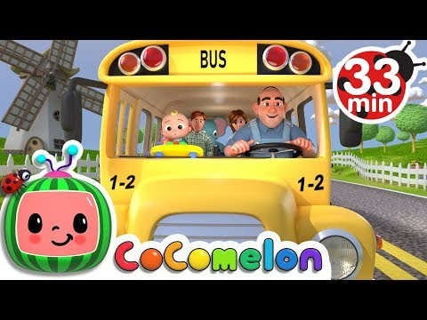 Wheels on the Bus  +More Nursery Rhymes & Kids Songs  ABCkidTV