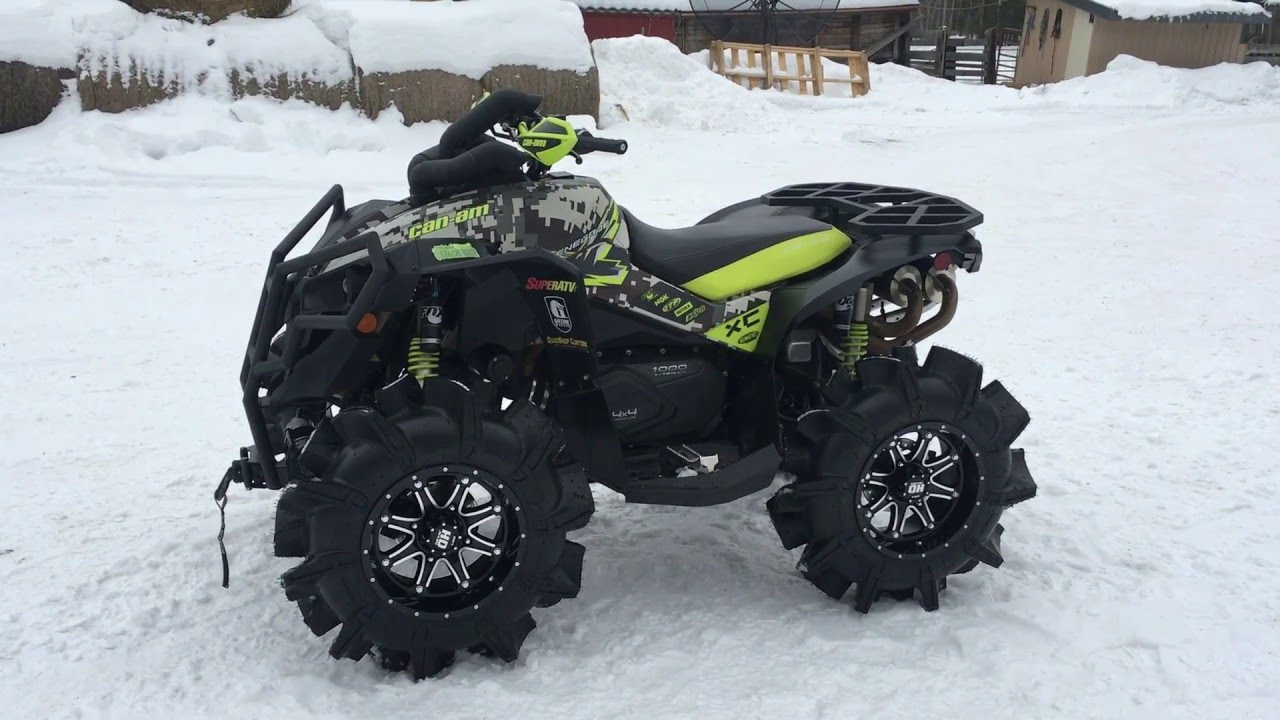Can Am Renegade 1000 Tuning >> 2015 Can-Am Renegade SuperATV Assassinators Muzzy Exhaust QSC Clutching - YouTube